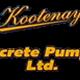 Kootenay Concrete Pumping Logo